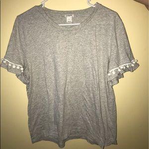 JCrew Pompom Shirt